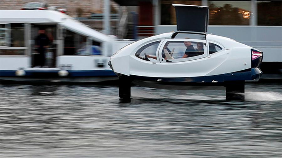 Prueban embarcación que ahorra energía elevándose sobre el agua con alas hidrodeslizadoras