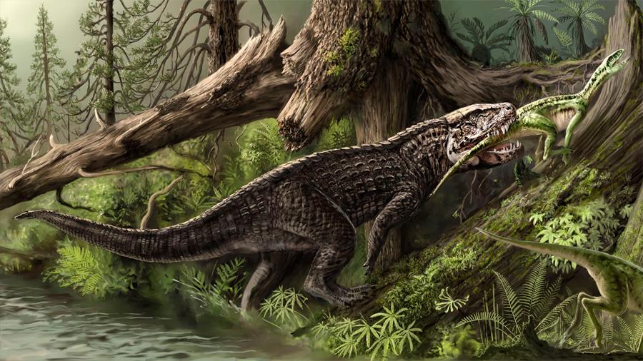 Cocodrilos del Triásico aterrorizaron a los dinosaurios herbívoros