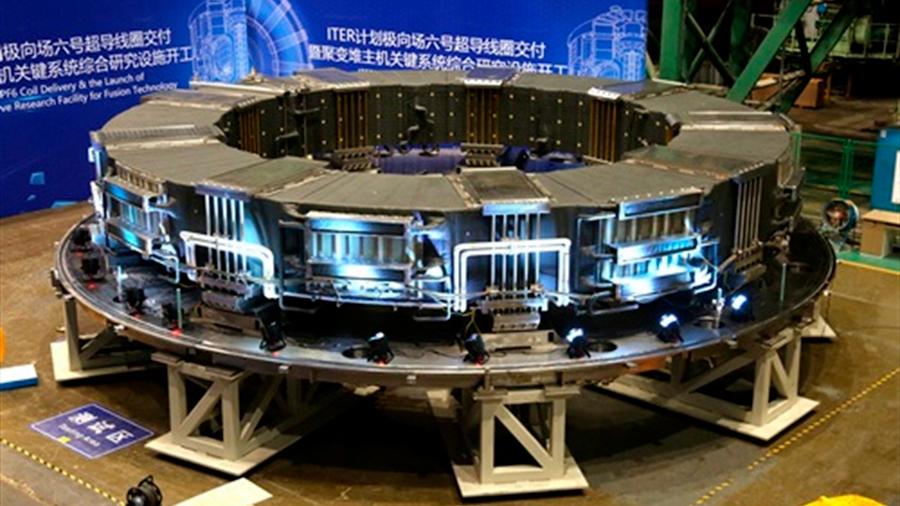 China culmina un gran componente clave del reactor de fusión ITER