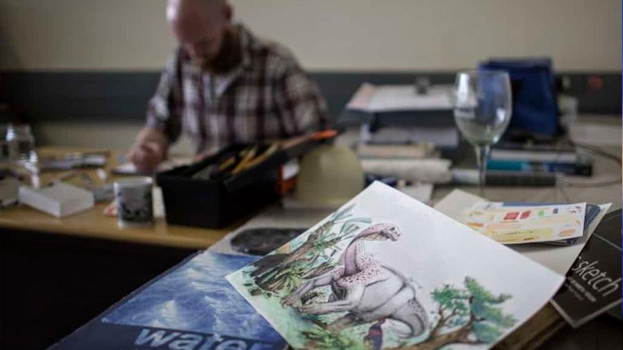 Viktor Radermacher, el paleoartista que 'resucita' a bestias prehistóricas