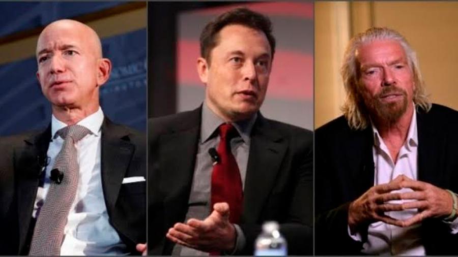 Elon Musk, Jeff Bezos y Richard Branson: los señores del espacio