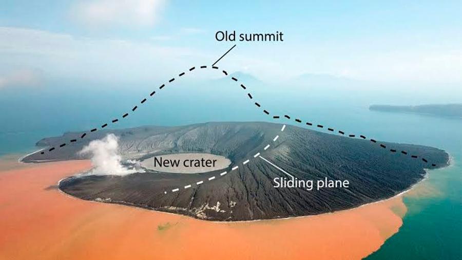 Señales de alerta precedieron al colapso del volcán Krakatoa en 2018