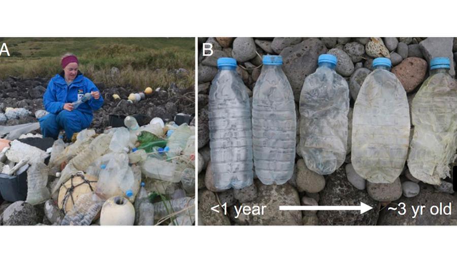 Contaminación oceánica: las botellas de plástico estarían siendo llevadas al Atlántico Sur a través de barcos