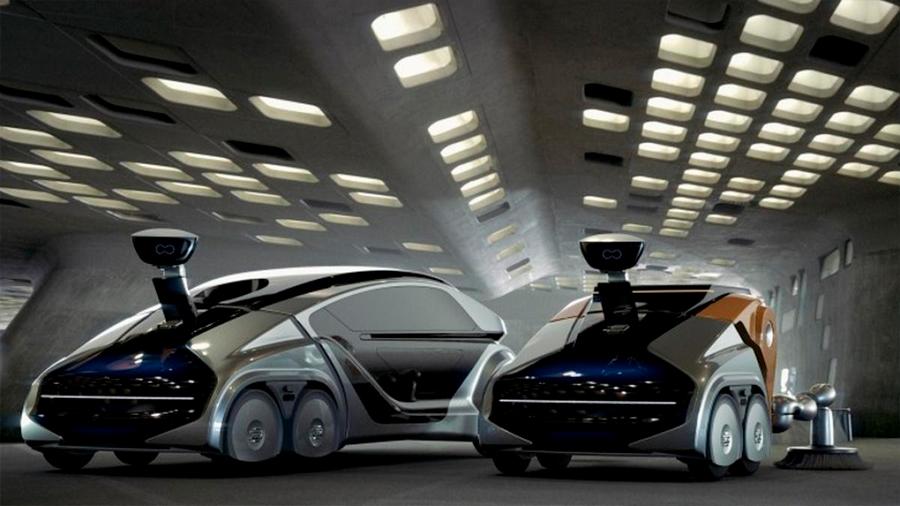 Coches autónomos tienen un conductor robot y trabajan 24 horas como taxi, repartidor y basurero
