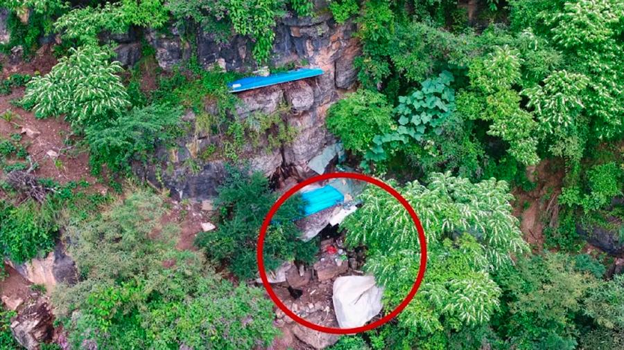Dron encuentra a un fugitivo viviendo en una cueva tras 17 años de estar prófugo