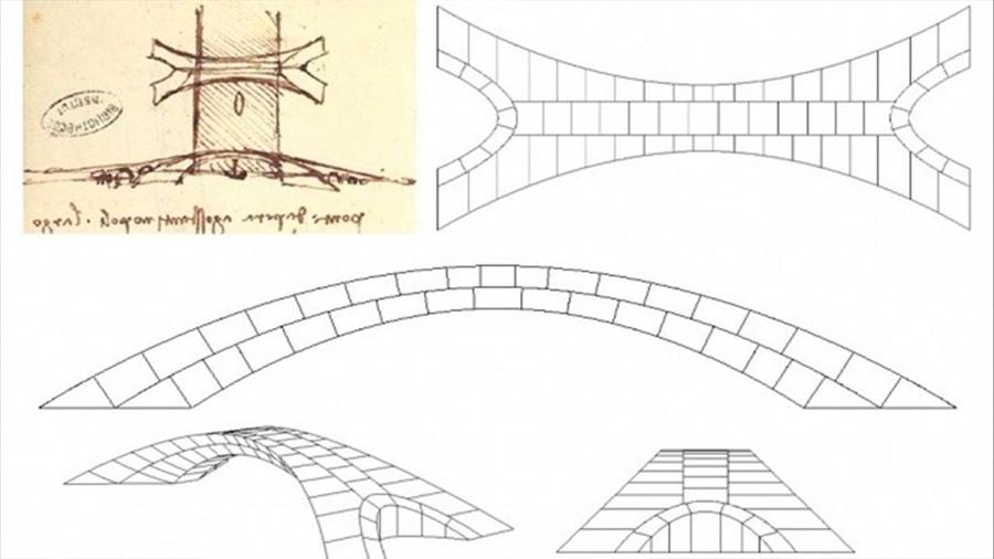 Un revolucionario megapuente concebido por Da Vinci habría sido viable, se comprueba ahora