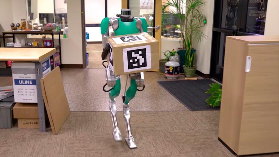 Competencia de Boston Dynamics le enseñó a llevar cajas a su robot bípedo Digit