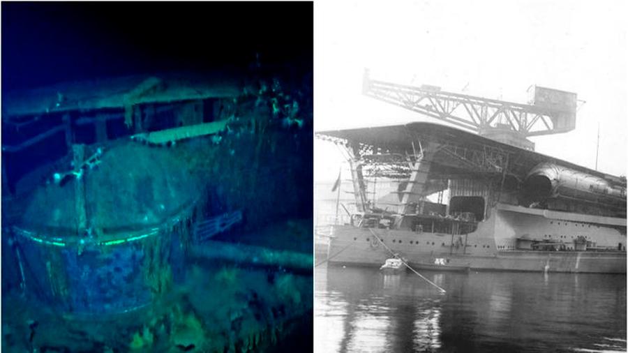 Descubren portaaviones japonés que hundieron en 2ª Guerra Mundial