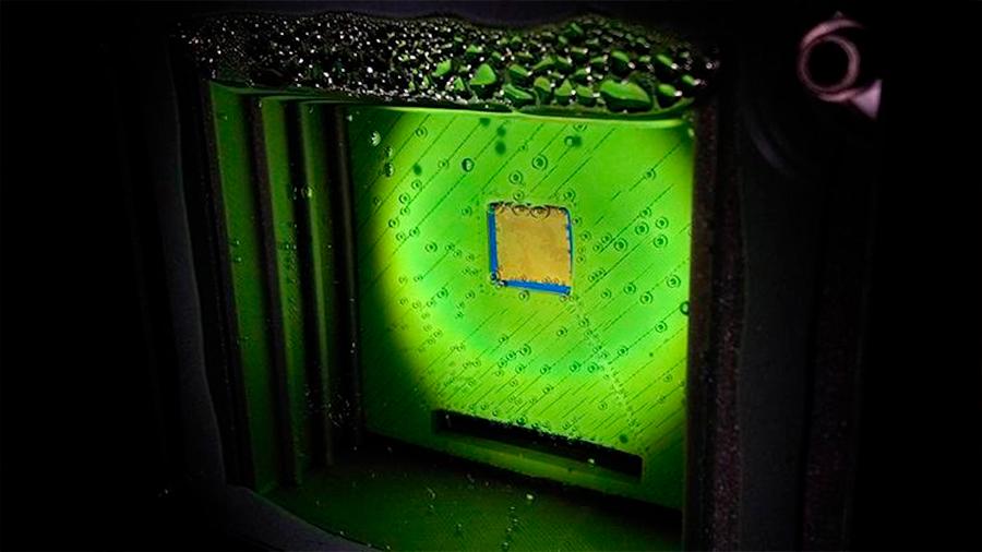 Una 'hoja artificial' produce gas limpio de forma eficiente