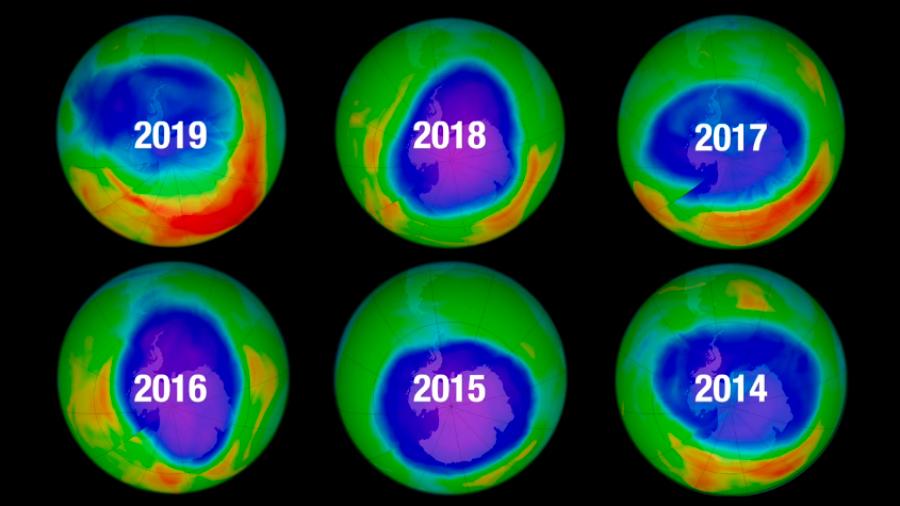 Hoyo en la capa de ozono en el Polo Sur es más pequeño que en 1985