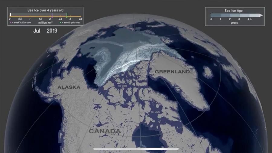 El último gran bastión de hielo marino ártico se desvanece rápidamente