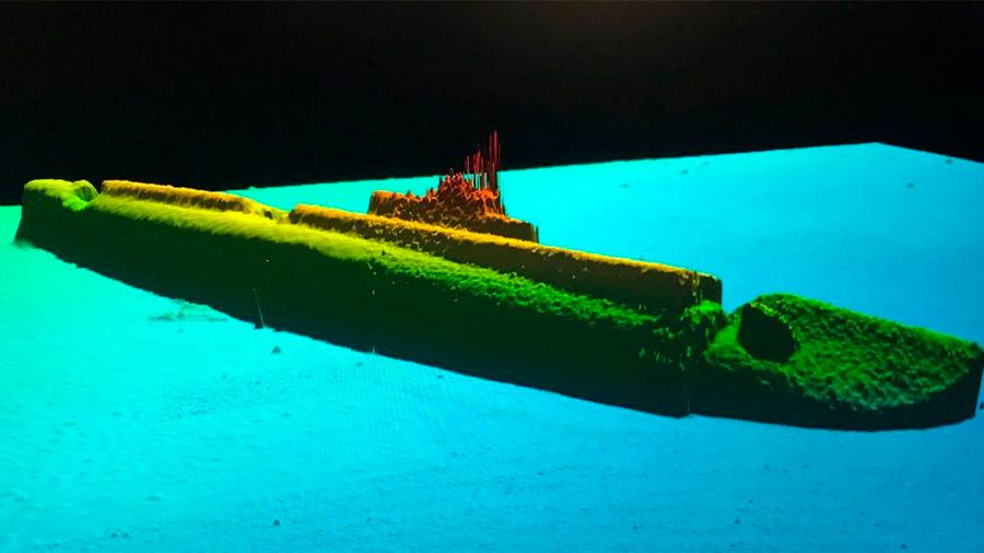 Descubren un submarino hundido durante la Segunda Guerra Mundial