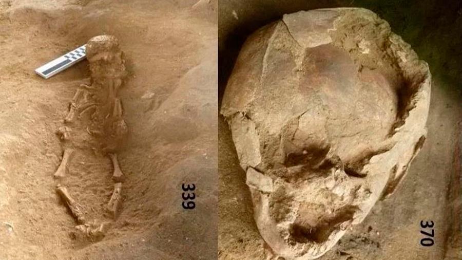 Cráneos de niños usados como cascos para bebés muertos hace 2,100 años