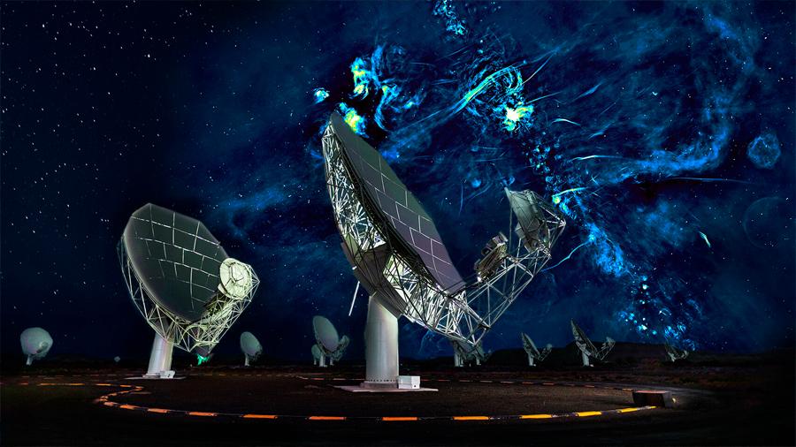 Desde el nuevo radiotelescopio MeerKAT descubren destello nunca antes visto en nuestra galaxia