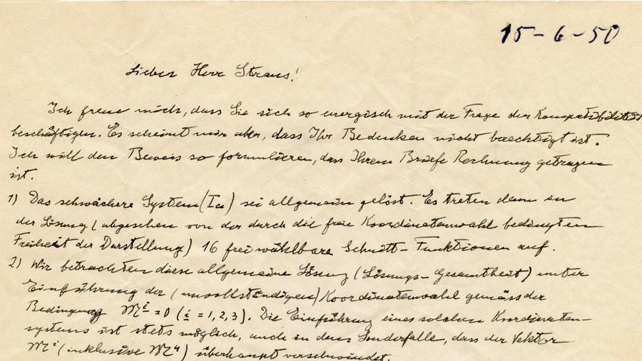 Subastarán en Jerusalén una carta de Einstein en la que elabora sus teorías