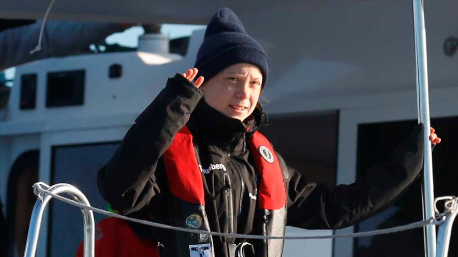 Greta Thunberg llega a Europa para participar de la COP25 tras 3 semanas de viaje en catamarán
