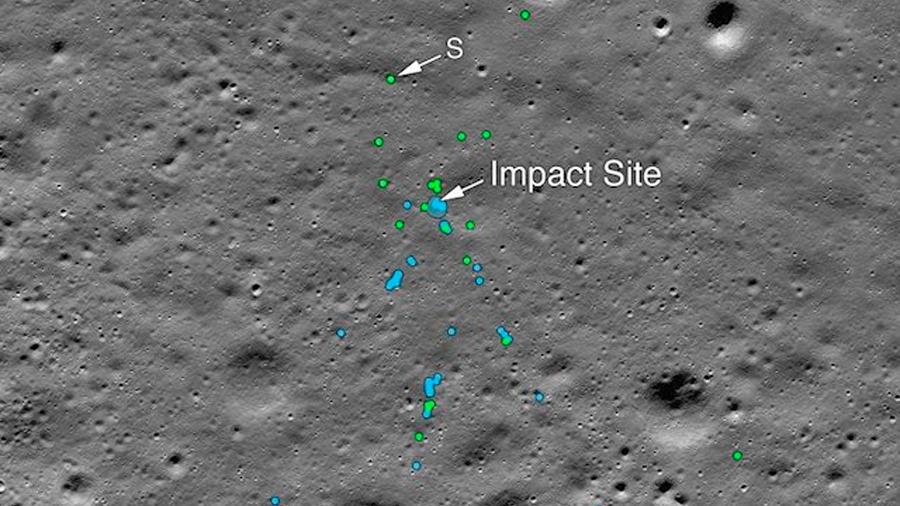 Localizan el malogrado aterrizador lunar de la India totalmente impactado