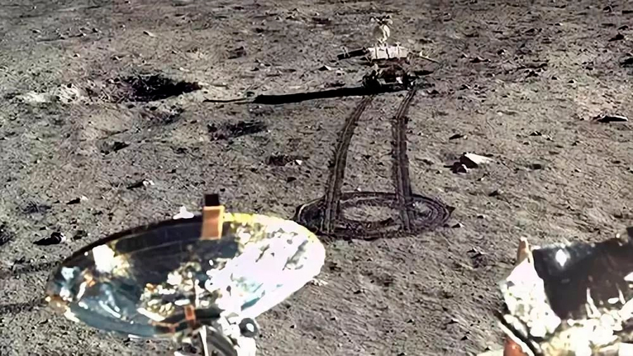 El rover chino recorre 345 metros en la cara oculta de la Luna