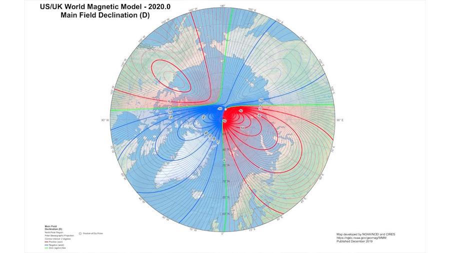 El errante polo magnético prosigue su misteriosa deriva hacia Siberia
