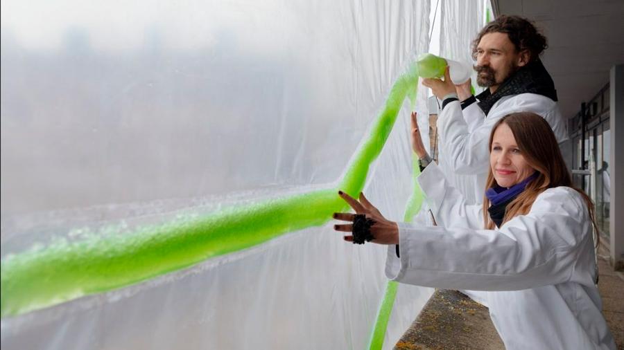 Diseñan cortinas que usan micro-algas para para purificar el aire