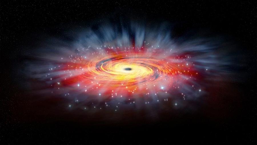 Descubren de qué se alimentaron los primeros agujeros negros