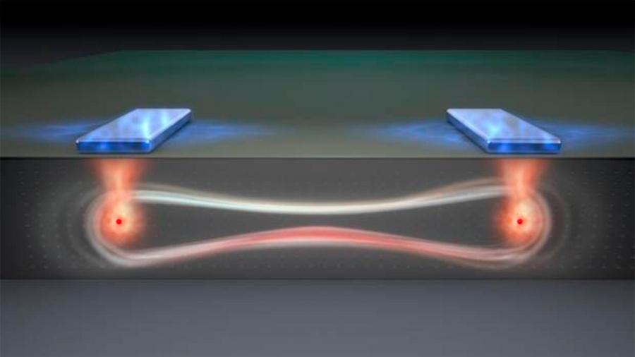 Logran teleportación cuántica de información entre dos chips programables