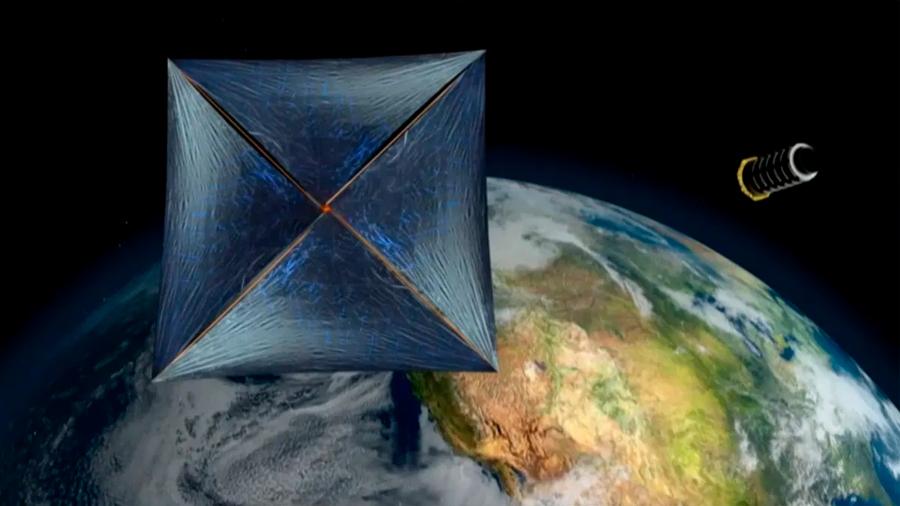 Nuevo concepto de vela láser para propulsar naves desde la Tierra