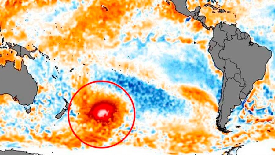 Una 'burbuja' gigante de agua caliente en el Pacífico sur sorprende a los científicos