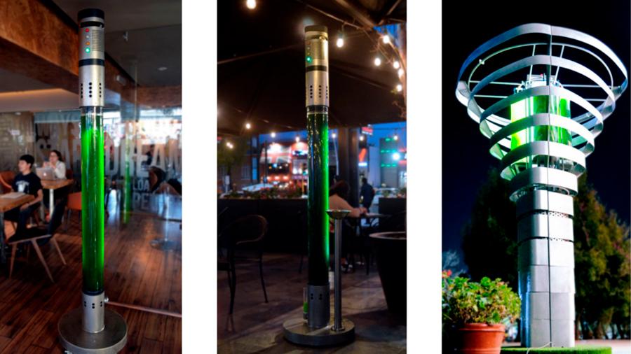 Estas torres con microalgas filtran el aire como lo harían 360 árboles