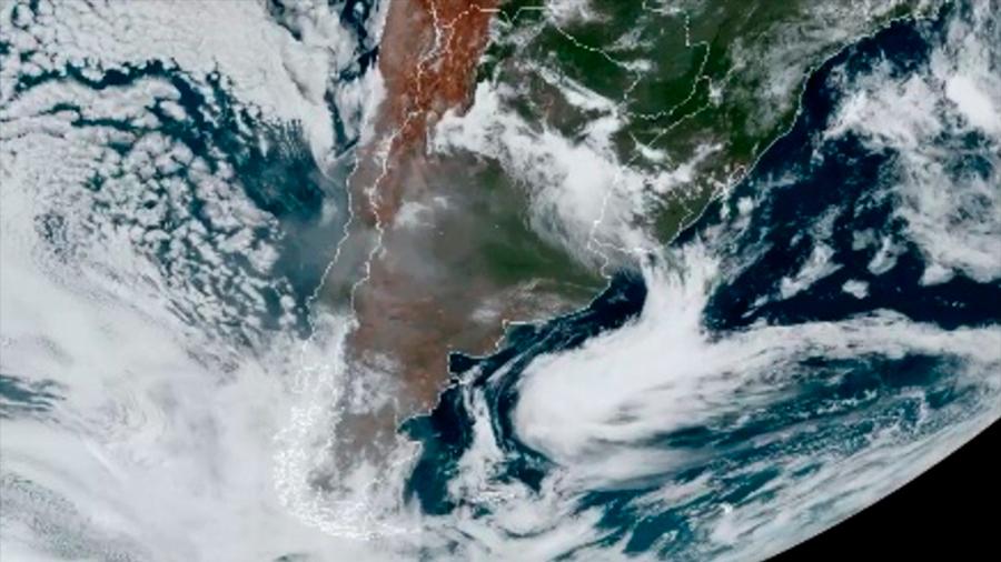 El humo de incendios de Australia llegó a América del Sur