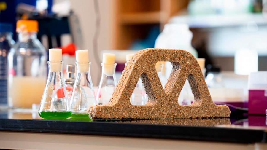 """Materiales de construcción """"vivos"""" y hechos de bacterias"""