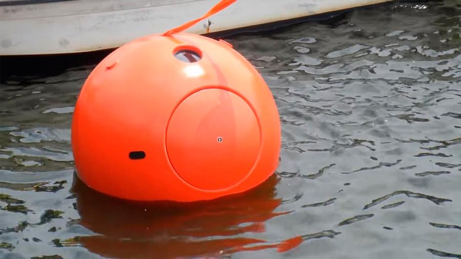 Esta cápsula de supervivencia para tsunamis es como una pelota de tenis gigante... para meterte dentro