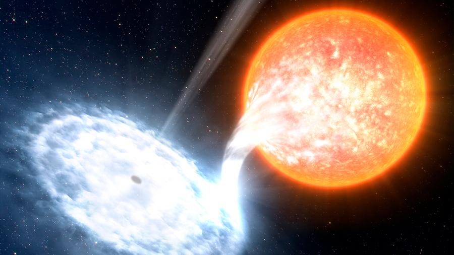 Una estrella de helio despojado explica un misterio de agujeros negros