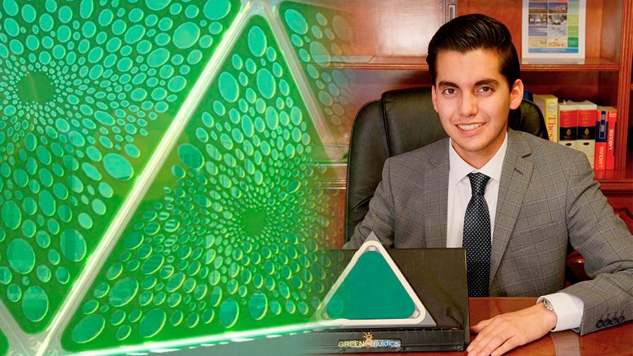 Paneles solares biológicos de innovador mexicano producen energía y oxígeno mientras absorben CO2