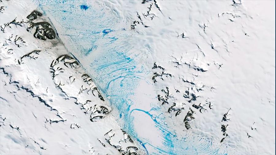 Derretimiento generalizado en una gran barrera de hielo antártica