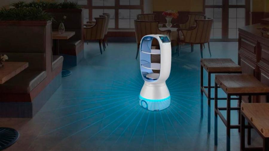 Este robot lleva comida a los infectados por coronavirus para evitar propagar la epidemia