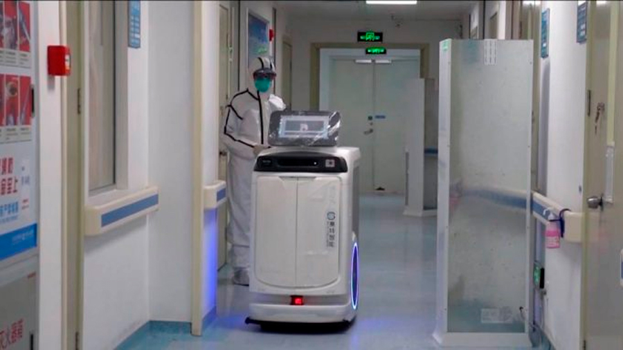 Robots para contener el coronavirus