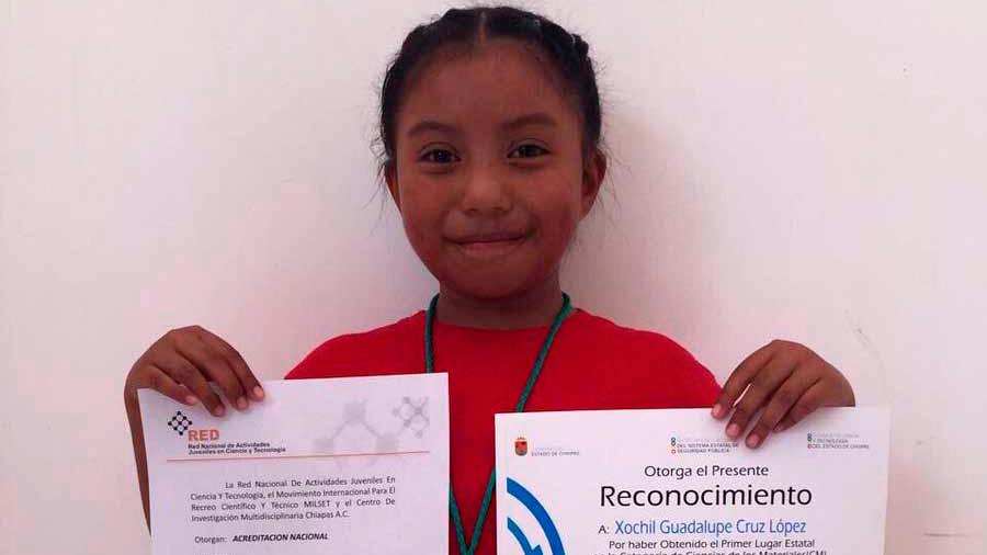 Niña chiapaneca de 10 años es destacada como referente en innovación