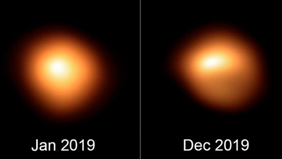 El brillo y la forma de la estrella Betelgeuse están cambiando