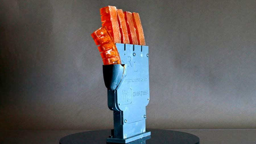 Investigadores crean con impresión 3D un músculo robótico capaz de sudar
