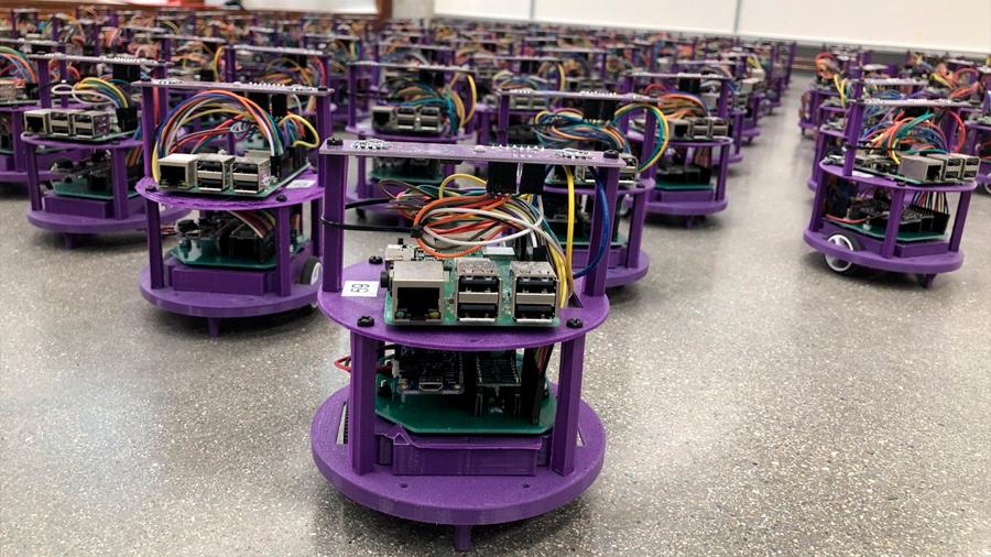 Robots capaces de actuar en enjambre sin chocar entre ellos ni sufrir atascos de circulación