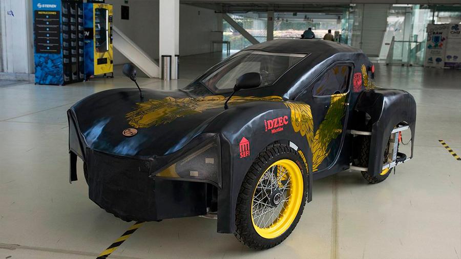 Mictlán, vehículo eléctrico totalmente hecho en la UNAM