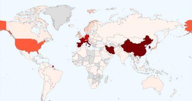 El mapa del coronavirus: más de 170 mil casos en más de 150 países
