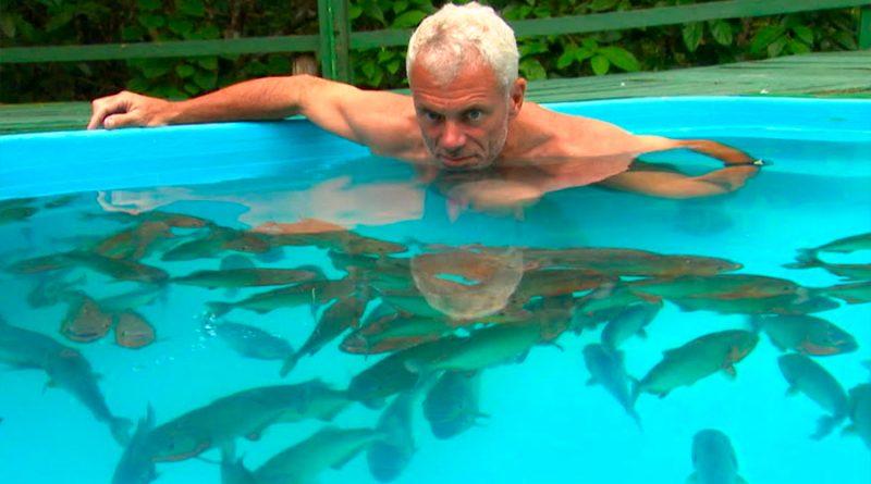 ¿Pueden las pirañas devorarnos en minutos? Un hombre se metió en una piscina plagada para comprobarlo