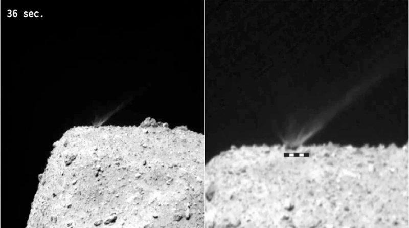 Calculan la edad del asteroide Ryugu tirando una bomba en su superficie