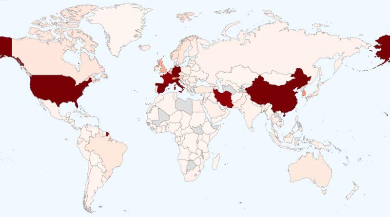 El mapa del coronavirus: más de 374,000 casos, 100 mil recuperados y muertes superan las 16 mil personas