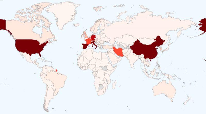 Mapa mundial del coronavirus: superados los 526,900 casos y casi 24 mil muertos en 188 países
