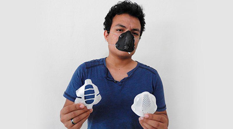 Estudiante mexicano diseña mascarilla en 3D para evitar contagio por COVID-19