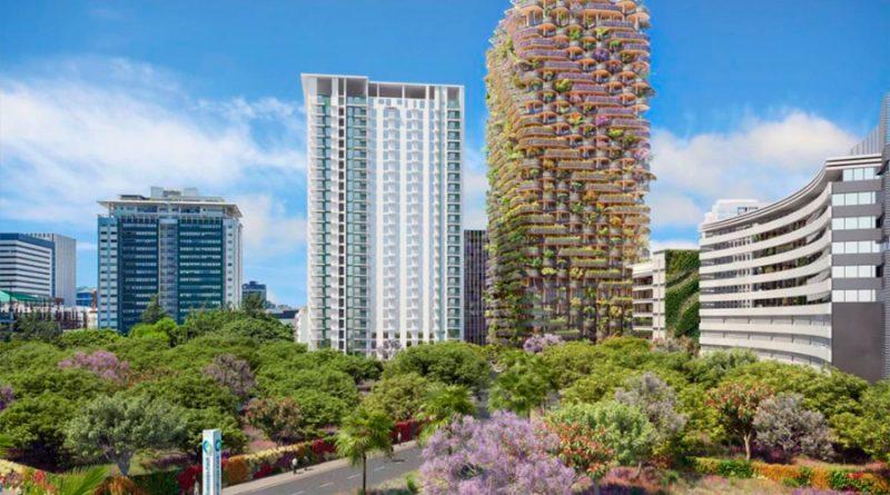 Proyectan un edificio ecológico con 30,000 plantas y árboles que crecerían a su alrededor