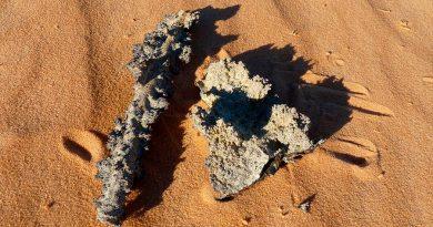 Cuando un rayo impacta la Tierra produce vidrio natural